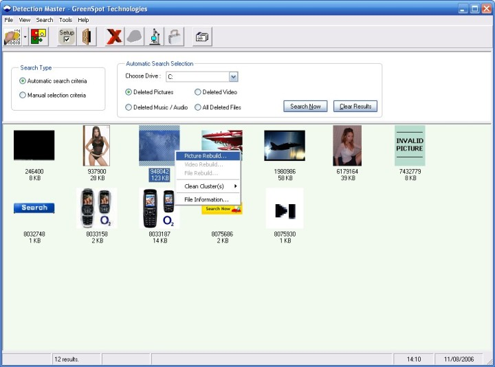 Forensic image, video & file recovery, secure deletion and pc privacy utilit Screen Shot
